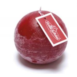 Candela sferica rosso rubino
